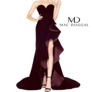 Mac Duggal Velvet Gown-Best Seller!
